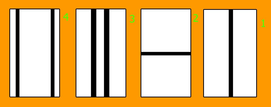 الشكل الأول تبين تأثير الخطوط على العين