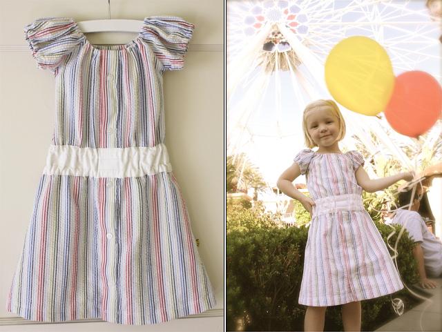شكل فستان الطفلة بعد الانتهاء